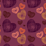 Original seamless background with hearts Royalty Free Stock Photography