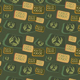 Original seamless background with squares Royalty Free Stock Photo