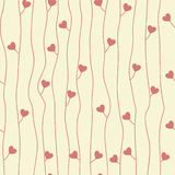 Original seamless pattern with hearts Royalty Free Stock Image