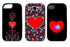 The original set of covers for phones Royalty Free Stock Image