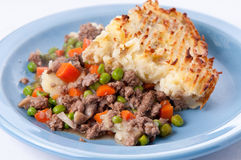 Original shepherd's pie made with ground lamb, fresh vegetables Royalty Free Stock Photos