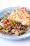 Original shepherd's pie made with ground lamb, fresh vegetables Stock Photo