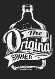 The original sinner. Vector illustration ideal for printing on apparel clothes Royalty Free Stock Image