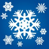 Original snowflakes Royalty Free Stock Photography