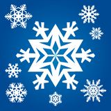 Original snowflakes Royalty Free Stock Image