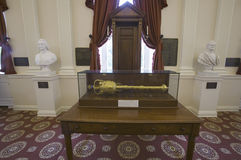 Original Speakers Chair from House of Burgesses Royalty Free Stock Photo