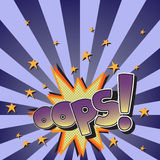 The original spelling of the exclamation oops! in comic style. Stock Images