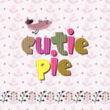 The original spelling of the phrase cutie pie. Stock Photo