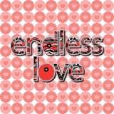 The original spelling of the phrase endless love. Royalty Free Stock Image