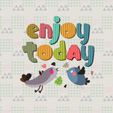 The original spelling of the phrase enjoy today. Stock Images