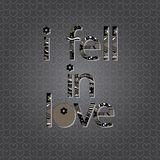 The original spelling of the phrase I fell in love!. Royalty Free Stock Photos