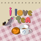 The original spelling of the phrase I love tea. Royalty Free Stock Photography