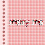 The original spelling of the phrase marry me. Royalty Free Stock Images