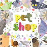 The original spelling of the phrase pet shop. Stock Images