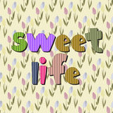 The original spelling of the phrase sweet life. Stock Photography