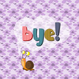 The original spelling of the word bye!. Stock Photography