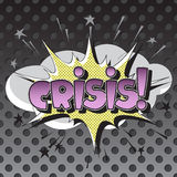 The original spelling of the word crisis! in the style of comics. Royalty Free Stock Photography