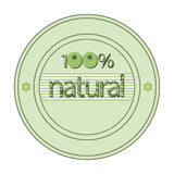 The original spelling of the word 100% natural. In the green circle the words 100% natural stock illustration