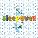 The original spelling of the word sleepover. Royalty Free Stock Photos