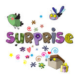 The original spelling of the word surprise. Royalty Free Stock Photo