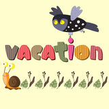 The original spelling of the word vacation. Stock Photography