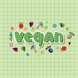 The original spelling of the word vegan. Royalty Free Stock Photo