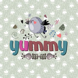 The original spelling of the word yummy. Royalty Free Stock Photography