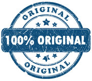 Original stamp. 100 percent original grunge stamp isolated over white Royalty Free Illustration