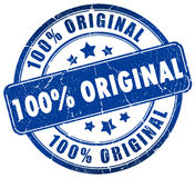 Original stamp. 100% original stamp isolated over white royalty free illustration
