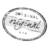 Original stamp. Grunge office rubber stamp with the word original written in various styles Royalty Free Stock Image
