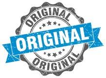Original stamp. Original blue stamp. sign. seal Stock Photography