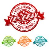 100% Original Stamp Button Banner Badge in different colours. 100% Original Stamp Button Banner Badge in different colours stock illustration