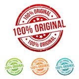 100% Original Stamp Button Banner Badge in different colours. Eps 10 Vector vector illustration