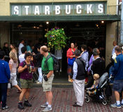 The original Starbucks in Seattle Stock Image