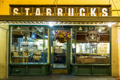 Original Starbucks store at 1912 Pike Place Stock Photography