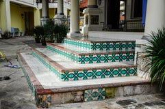 Original steps of Kampung Kling Mosque at Malacca, Malaysia Royalty Free Stock Photos