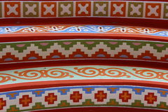 Original steps. Multicolored steps that original jewelry unusual ornament Stock Image