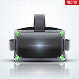 Original stereoscopic 3d VR headset royalty free illustration