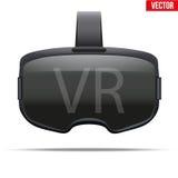 Original- stereoskopisk hörlurar med mikrofon för 3d VR royaltyfri illustrationer