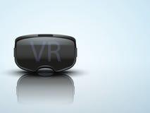 Original- stereoskopisk hörlurar med mikrofon för 3d VR stock illustrationer