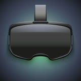 Original- stereoskopisk hörlurar med mikrofon för 3d VR Arkivbild