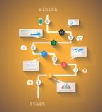 Original- stilInfographic mall som visar dina data Arkivbild