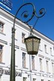 St. Petersburg, Russia, April 2019. The original street lamp in the city center. The original street lamp in the city center. Antique lantern, remaining from royalty free stock photo