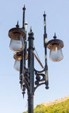 The original street lamp on the street Lovech, Bulgaria Royalty Free Stock Images