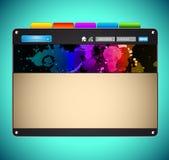 Original Style Futuristic WebSite Template. Abstract and Original Style Futuristic WebSite Template Stock Images