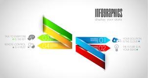 Original Style Infographics Templates to display data. Stock Image