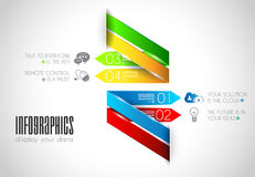 Original Style Infographics Templates to display data. Royalty Free Stock Photography