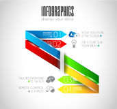Original Style Infographics Templates to display data. Royalty Free Stock Photo
