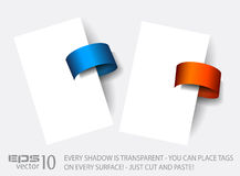 Original Style Paper Tag with transparent shadows. Royalty Free Stock Photos