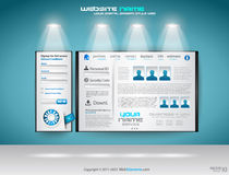 Original Style shopfront showroom website. Template with spotlights featuring the main panel and design elements Royalty Free Stock Image